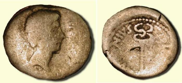 Ancient Coins - x Octavian  and  Marc  Antony   .  Late 40 - Early 39 BC  .  AR Denarius .
