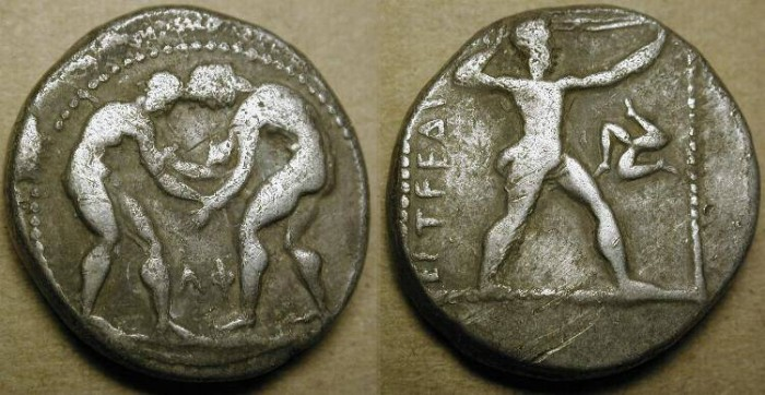 Ancient Coins - Pamphylia , Aspendos. AR Stater . Circa 4th century BC .
