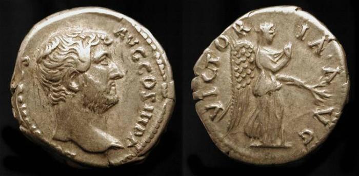 Ancient Coins - Hadrian 117-138 AD.  AR Denarius. Rome Mint