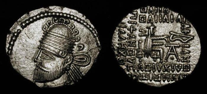 Ancient Coins - Parthian Empire. Pakoros II  78-105 AD. Sellwood 77.8