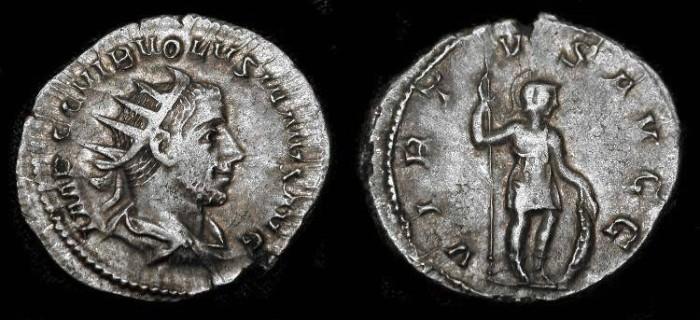 Ancient Coins - Volusian 251-253 AD, Silver Antoninianus, RIC 206