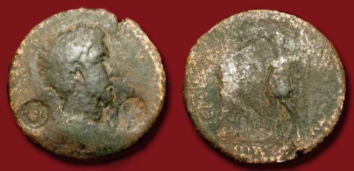 Ancient Coins - Medallion AE 37 mm of Commodus. 180-192  AD . Cilicia, Hierapolis-Castabala.   Rare