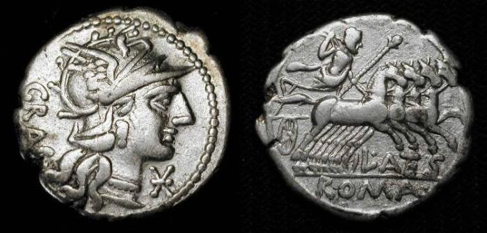 Ancient Coins - x L. Antestius Gragulus. 136 BC. AR Denarius