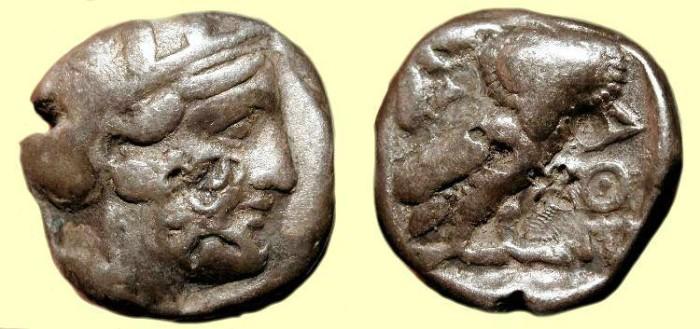 Ancient Coins - x Attica. Athens . 4th Century BC.  AR Tetradrachm. Owl.