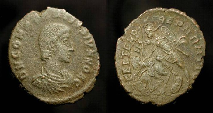 Ancient Coins - Constantius Gallus  351-354 AD.  Fallen Horseman