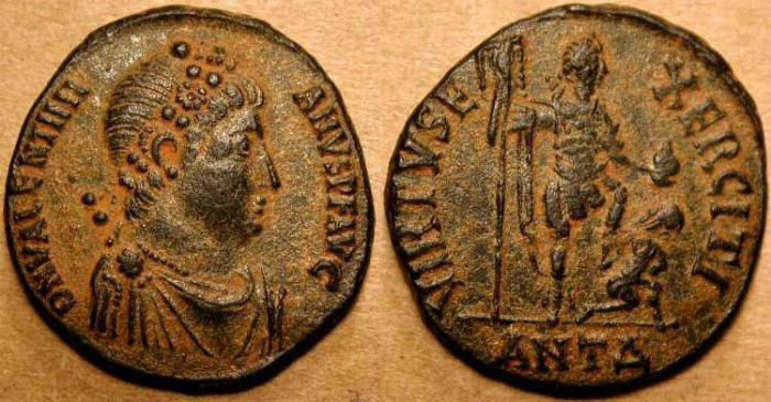 Ancient Coins - z Valentinian II . 375 - 392  AD  . Large Bronze AE2 . Antioch Mint . SCARCE .