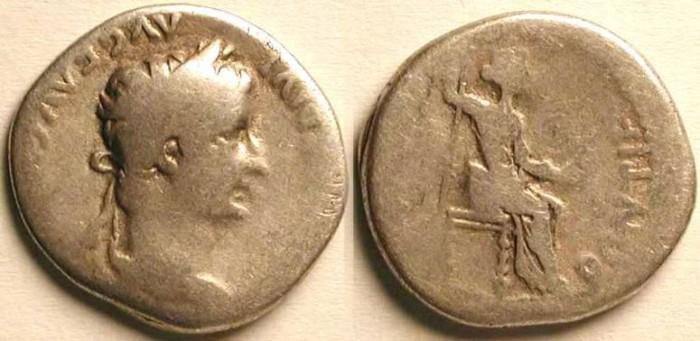 Ancient Coins - z Tiberius Caesar . Tribute Penny .