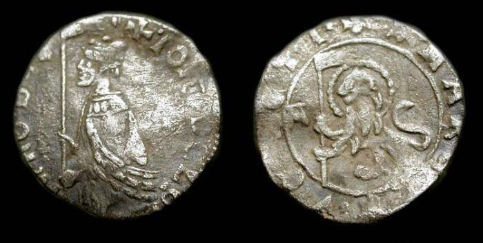 World Coins - Italian States, Venice. Giovanni Dolfin as Doge 1356-1361 AD. AR Soldino