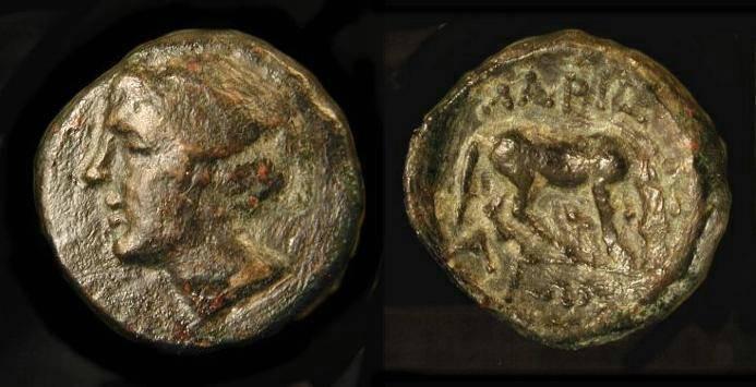 Ancient Coins - Greece. Larissa  350-325 BC. Nymph / Horse Grazing. SG 2130