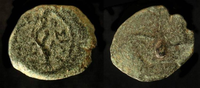 Ancient Coins -  Herod the Great 37 - 4 BC. AE Prutot. H 1172