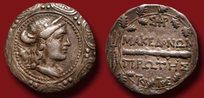 Ancient Coins - x Macedonia under Roman Rule. After 168  BC.  AR Tetradrachm