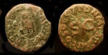 Ancient Coins - Claudius,  41-54 AD. AE Quadrans