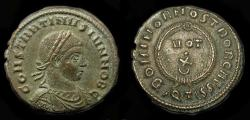 Ancient Coins - Constantine II  337-340 AD, as Caesar 317-337 AD.  AE Follis.  Ticinum Mint. RIC 172.