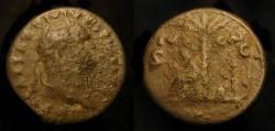 Ancient Coins - ** Reserved ** Titus, 79-81 AD.  AE Semis. Judaea Capta. Rare