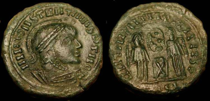 World Coins - Barbarian Imitation of Constantine I . AE 18 .
