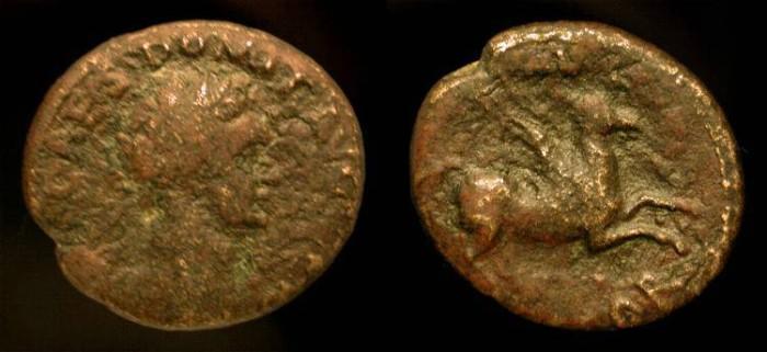 Ancient Coins - Domitian 81-96 AD. AE 20 mm. Corinth