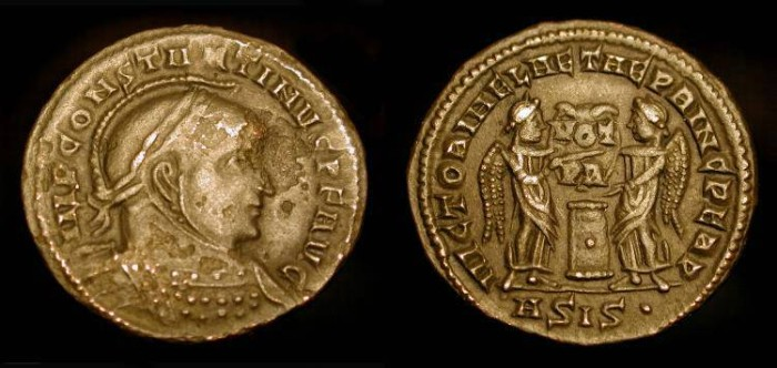 Ancient Coins - Constantine the Great 306-337 AD. RIC VII 53 (R3) Rare.  SPECTACULAR REVERSE !