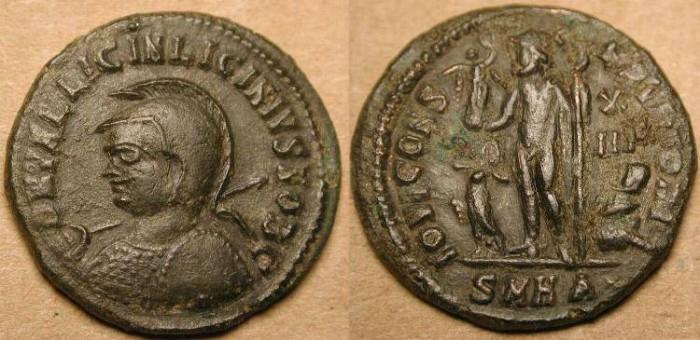 Ancient Coins - z Licinius II . As Caesar  317-324 AD . Half Follis - Unusual Denomination . Rare (R2) .
