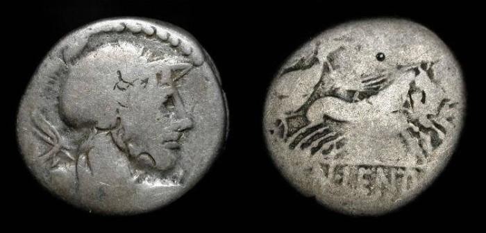 Ancient Coins - Cn Lentulus Clodianus,  88 BC. AR Denarius. Consular General defeated by Sparticus.