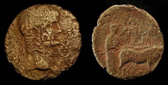 Ancient Coins - City Coins of Judaea. Nero 54-68 AD. Akko - Ptolemais. AE 24