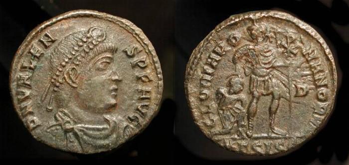 Ancient Coins - Valens 364-367 AD, AE 17. Siscia. RIC IX 5b