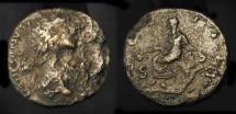Ancient Coins - Hadrian 117-138 AD. AE Quadrans. City goddess of Antioch. RIC 686. Very Rare (R2)