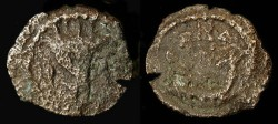 Ancient Coins - > Herod Archelaus 4 BC - 6 AD. AE Double prutah. H 1194