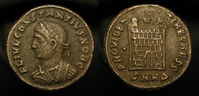 Ancient Coins - Constantius II as Caesar 324-337 AD.  Heraclea Mint