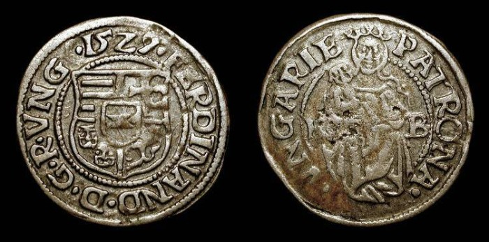 World Coins - Early Dated Coin. 1529 . Ferdinand I . Hungary