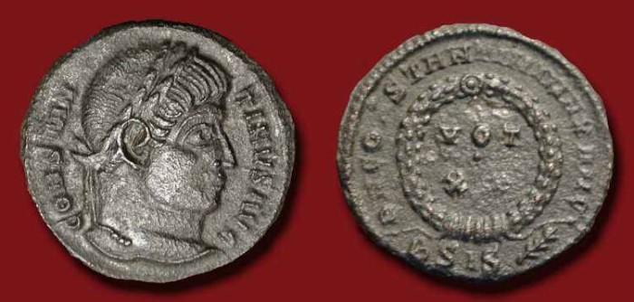 Ancient Coins - Constantine I . 307 - 337 AD . AE3 Siscia Mint. Rare Type (R3)