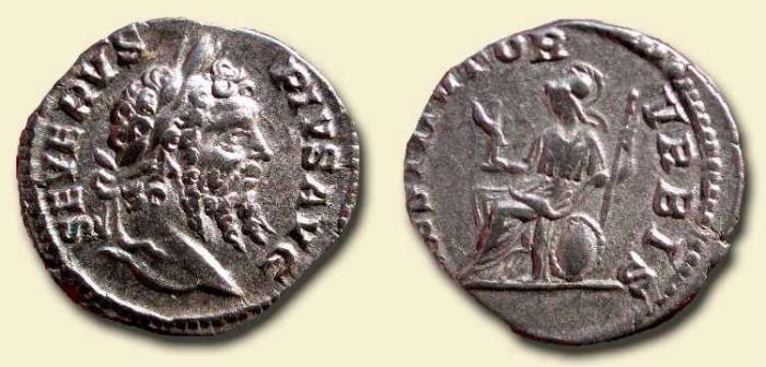 Ancient Coins - x Septimius Severus  .  193 - 211  AD  .  AR Denarius .