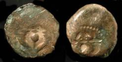 Ancient Coins - Judaea. Hasmonaean Kings. Brockage.