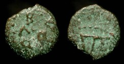 Ancient Coins - > Herod the Great 37 - 4 BC. AE Prutot. H 1183