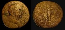 Ancient Coins - Vespasian 69-79 AD. AE Sestertius. Judaea Capta. H 1500. Rare