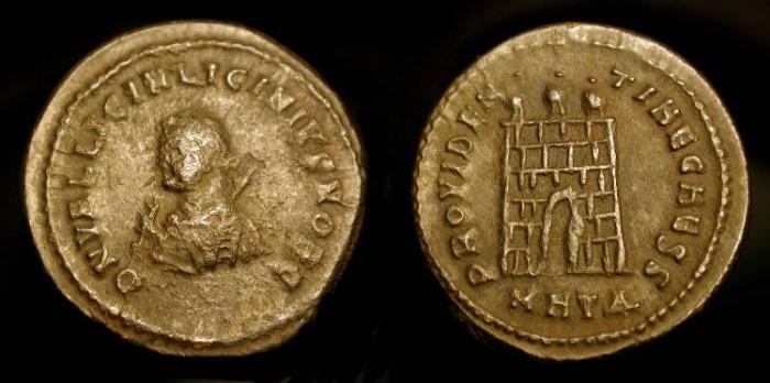 Ancient Coins - Licinius II as Caesar 317-324 AD. Heraclea. Campgate. RIC 19