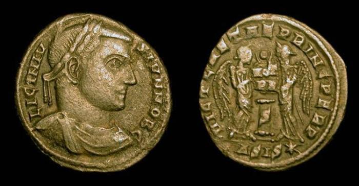 Ancient Coins - Licinius II. 317-324 AD AE Follis. Siscia. Very Rare (R4)