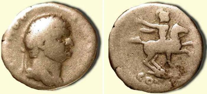 Ancient Coins - Domitian .  81-96 AD .  AR Denarius  . Last of the Twelve Caesars  .