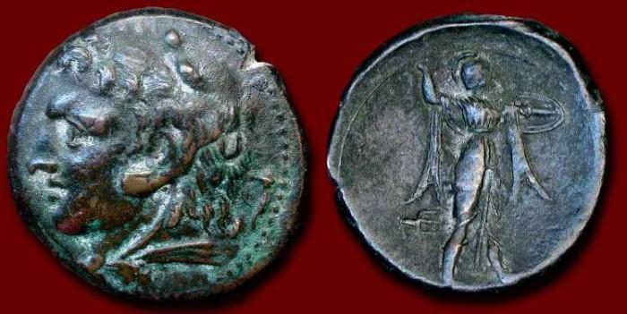 Ancient Coins - x Sicily, Syracuse. Time of Pyrrhos. 278-276 BC.