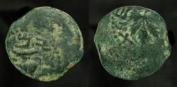 Ancient Coins - >Judaea. First Jewish War, Year 2. AE Prutah. H 1360