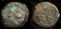Ancient Coins - >Judaea. First Jewish War, Year 3. AE Prutah. H 1363