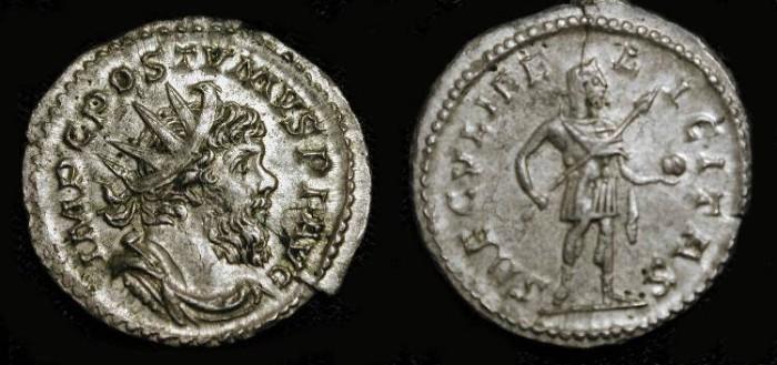 Ancient Coins - Postumus. 259-268 AD. AR Antoninianus