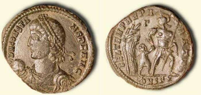 Ancient Coins - Superb Constans  337 - 350  AD  . AE 2