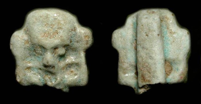 """Ancient Coins - Ancient Egypt. Late Dynastic Period (1085-332 BC).  Amulet of the air god """"Shu""""."""