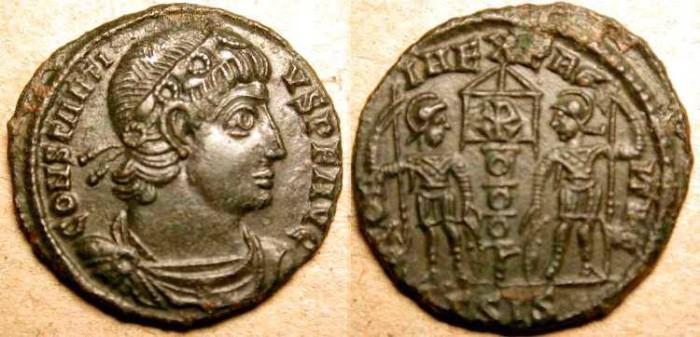Ancient Coins - Constantius II . 337 - 361  AD . Æ 16 mm .