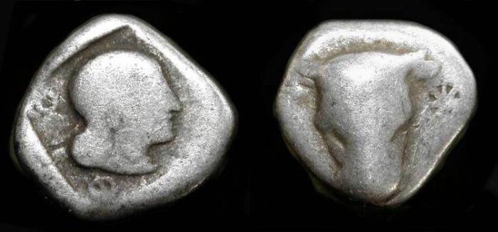 Ancient Coins - Phokis,  Federal Coinage. 460 - 430 BC. AR Triobol