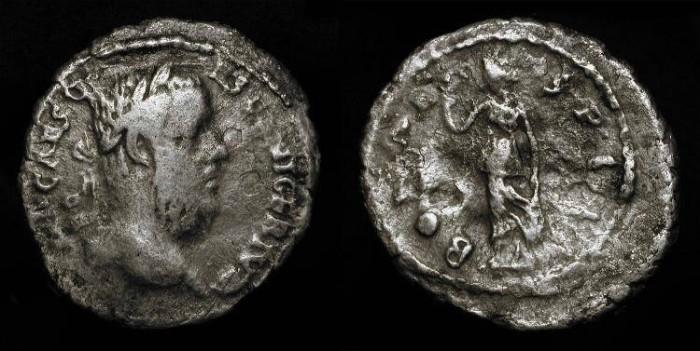 Ancient Coins - Pescennius Niger  193-194 AD . AR Denarius.  RARE