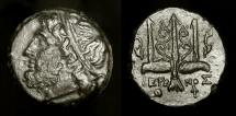 Ancient Coins - Hieron II 275-215 BC. Sicily, Syracuse. AE Litra. Exceptionally Nice !