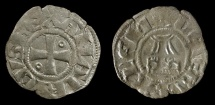 World Coins - Amalric I  (Amaury) Crusaders. King of Jerusalem 1163-1174. AR Denier.