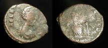 Ancient Coins - Aelia Flaccilla, wife of Theodosius the Great (379-395 AD). AE 15