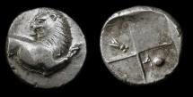 Ancient Coins - THRACE, Chersonesos. 400-350 BC. AR Hemidrachm. Exceptionally Nice Example !